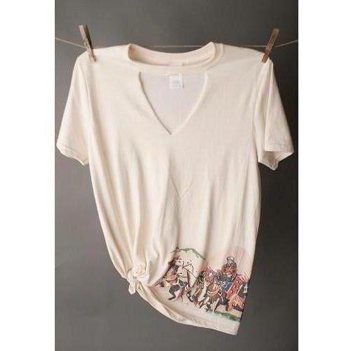 West 20 Saddle Co. Stagecoach Choker Tee - West 20 Saddle Co.