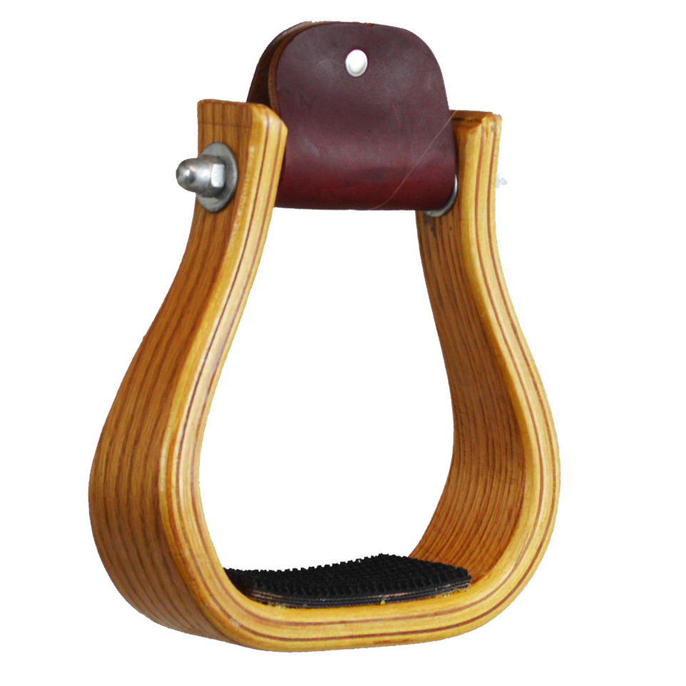 "2"" Wood Stirrup with Rubber Tread"