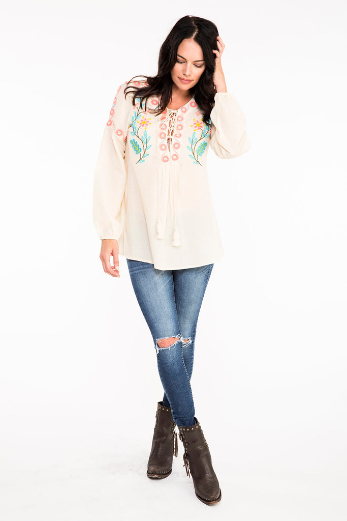 Double D Ranchwear Buffalo Grass Top