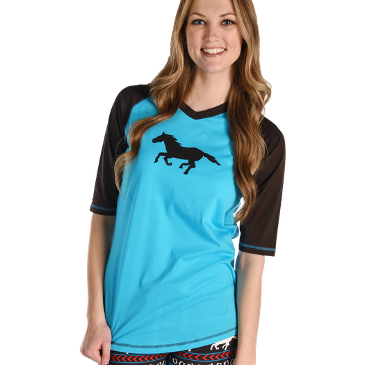Lazy One Womens Horse Fair Isle PJ Tee