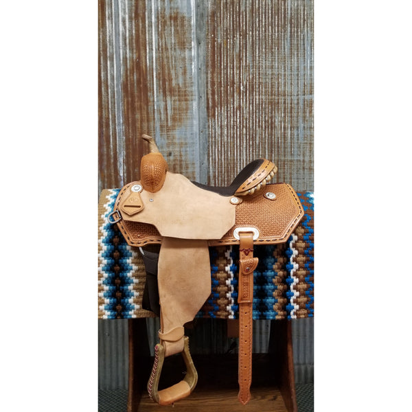 "15"" Custom West 20 Barrel Racing Saddle"
