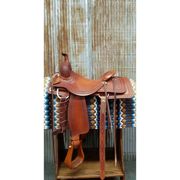 "16"" Custom West 20 Ranch Cutting Saddle"