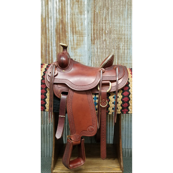 "16"" Custom West 20 Ranch Versatility Saddle"