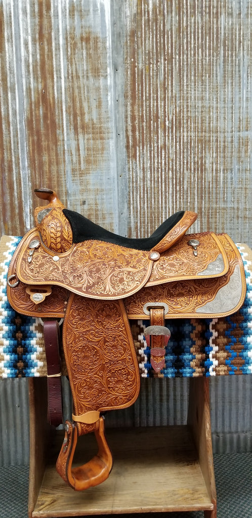 "16.5"" Circle Y Richard Shrake's Resistance Free Show Saddle (Gently Used)"
