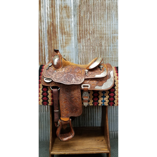 "16"" Billy Cook Western Pleasure Show Saddle (Gently Used)"