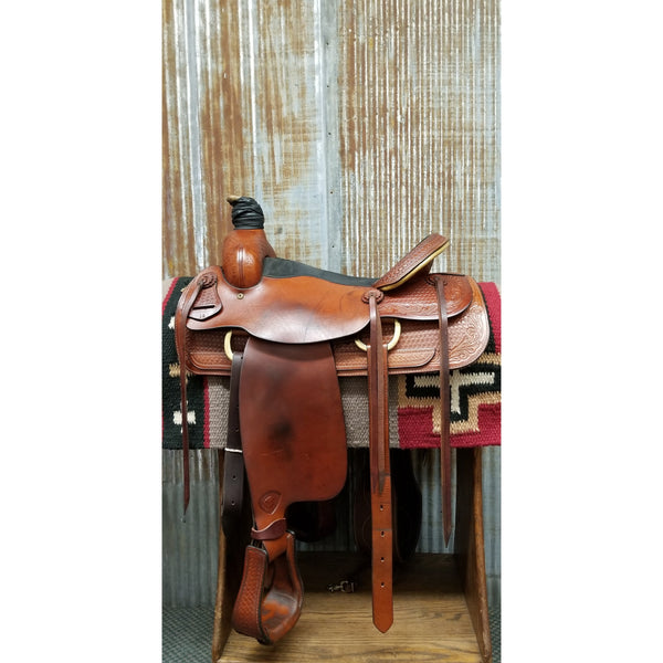 "16"" Hereford Brand Tex Tan Montgomery Roping Saddle (Gently Used)"