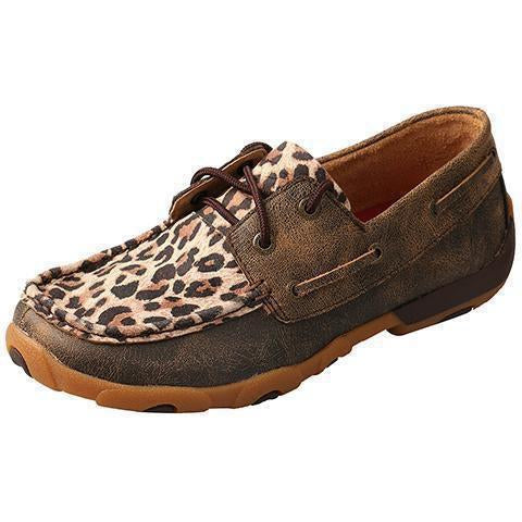 Twisted X Women's Leopard Driving Mocs - West 20 Saddle Co.