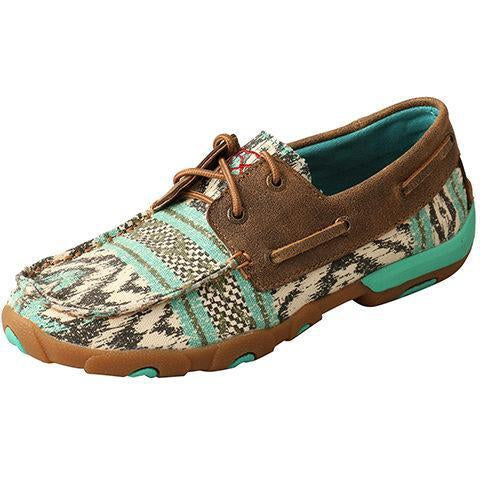 Twisted X Women's Boat Shoe Driving Moc-Multi/Bomber