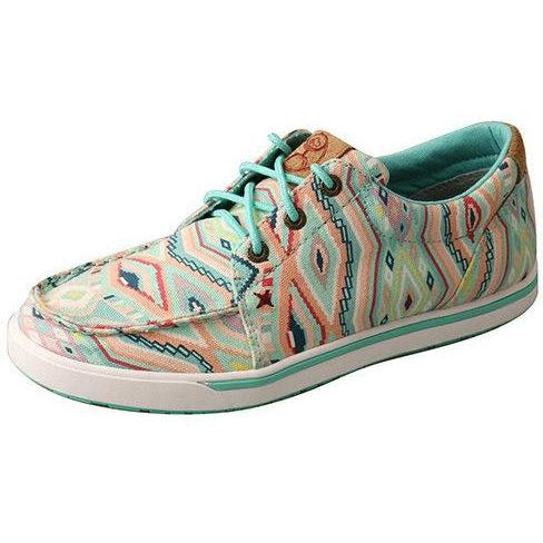 Twisted X Women's Hooey Loper-Light Blue/Multi