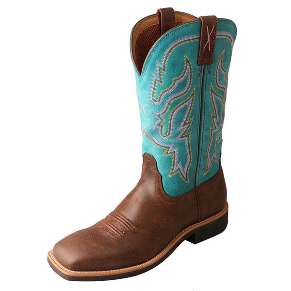 Twisted X Women's Top Hand Brown/Turquoise Boots