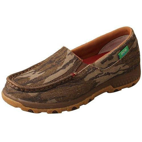 Twisted X Women's Mossy Oak Slip-On Driving Moc with CellStretch