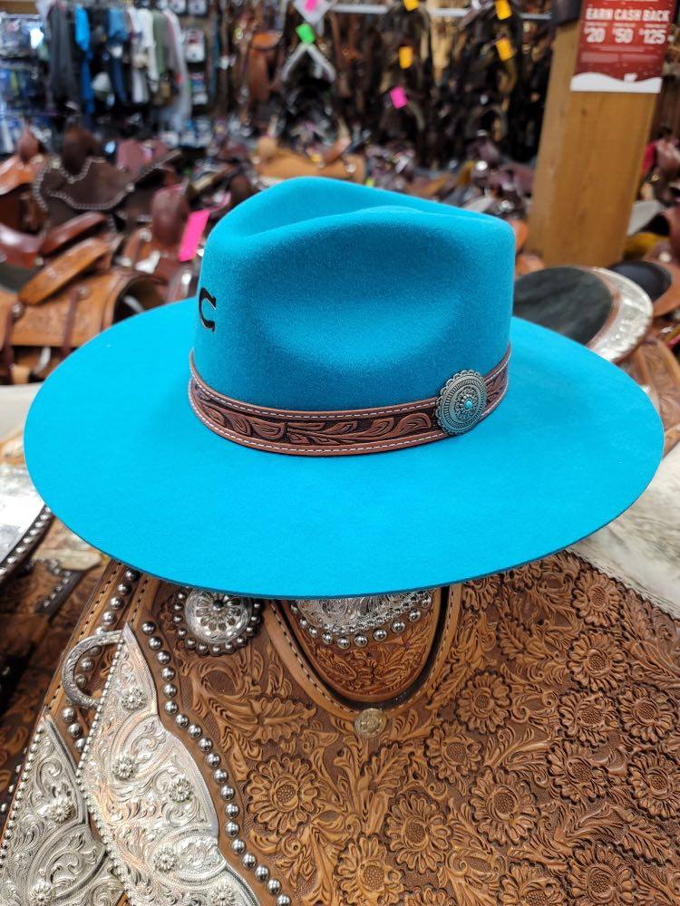 Charlie 1 Horse Turquoise White Sands Hat