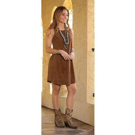 Wrangler Women's Faux Suede Tank Dress - West 20 Saddle Co.