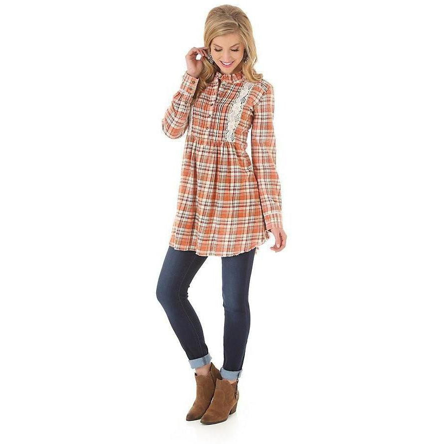 Wrangler Women's Long Sleeve Tunic - West 20 Saddle Co.