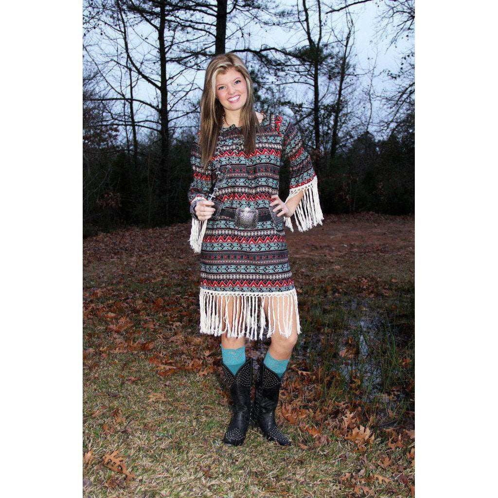 R Cinco Ranch Allie Aztec Dress