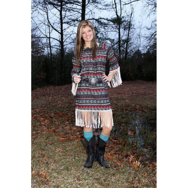 R Cinco Ranch Allie Aztec Dress - West 20 Saddle Co.