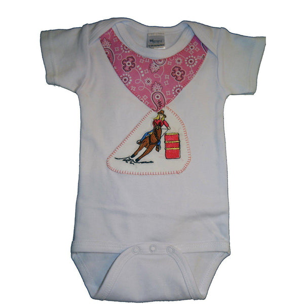 Western Border and Co. Girl Barrel Racer Onesie - West 20 Saddle Co.