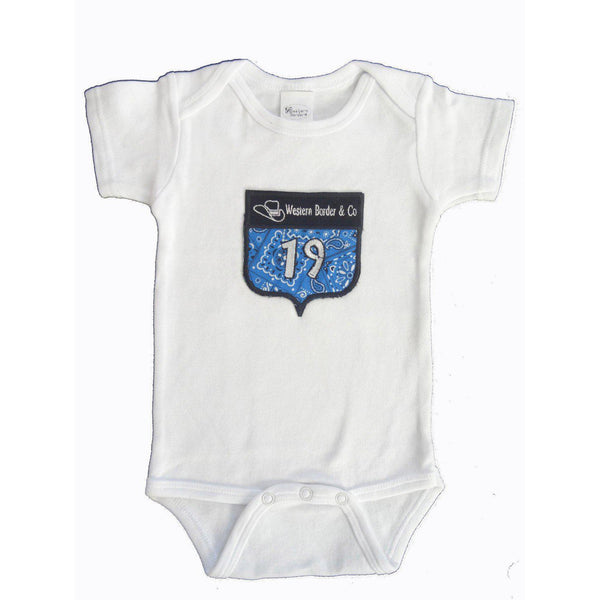 Western Border and Co. Boy Rodeo Starter Number Onesie