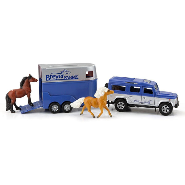 Breyer Land Rover and Tag-A-Long Trailer