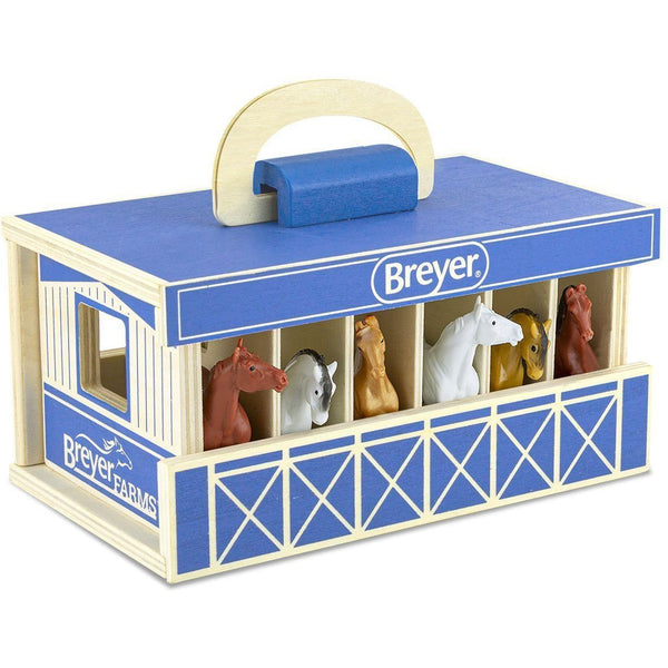 Breyer Farms Wood Carry Stable Playset