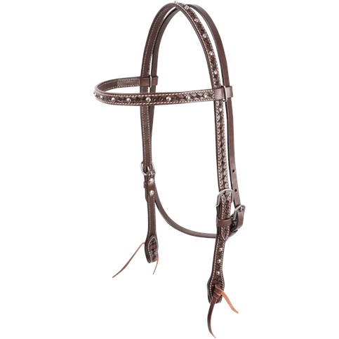 Cashel Silver Dotted Basket Headstall - West 20 Saddle Co.