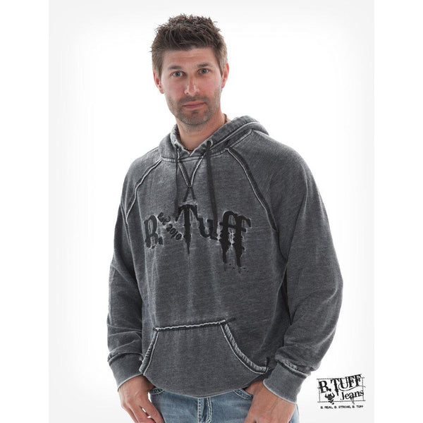 Dark Gray Hoodie With Black Embroidery - West 20 Saddle Co.