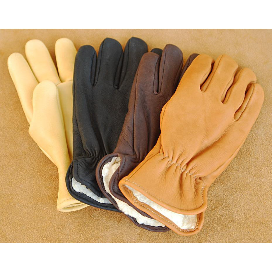 Pile Lined Deerskin Glove - West 20 Saddle Co.
