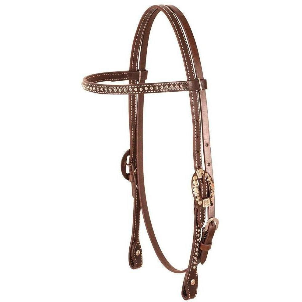 Cashel Dotted Browband Headstall - West 20 Saddle Co.