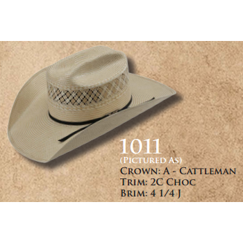 American Straw Hat #1011 - West 20 Saddle Co.