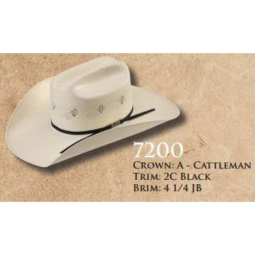 American Straw #7200 - West 20 Saddle Co.