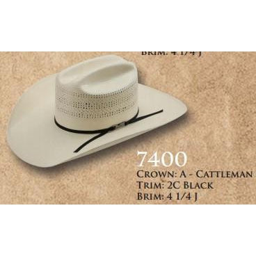American Straw #7400 - West 20 Saddle Co.