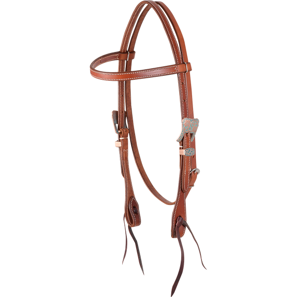 Martin Saddlery Copper Patina Browband Headstall