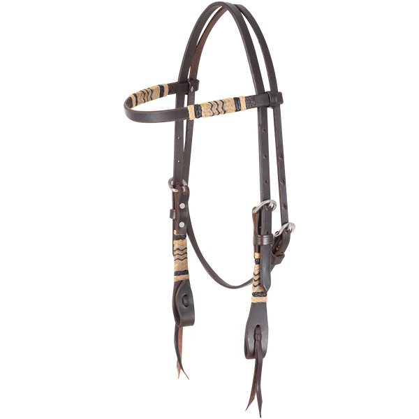 Martin Chocolate Rawhide Braided Headstall - West 20 Saddle Co.