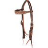 Martin Turquoise and Copper Dots Browband Headstall - West 20 Saddle Co.