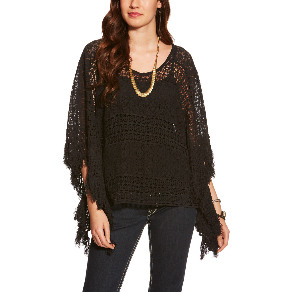Ariat Women's Lace Poncho - West 20 Saddle Co.