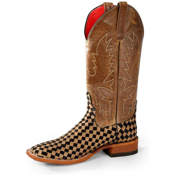 Macie Bean Courtly Check Cowgirl Boots