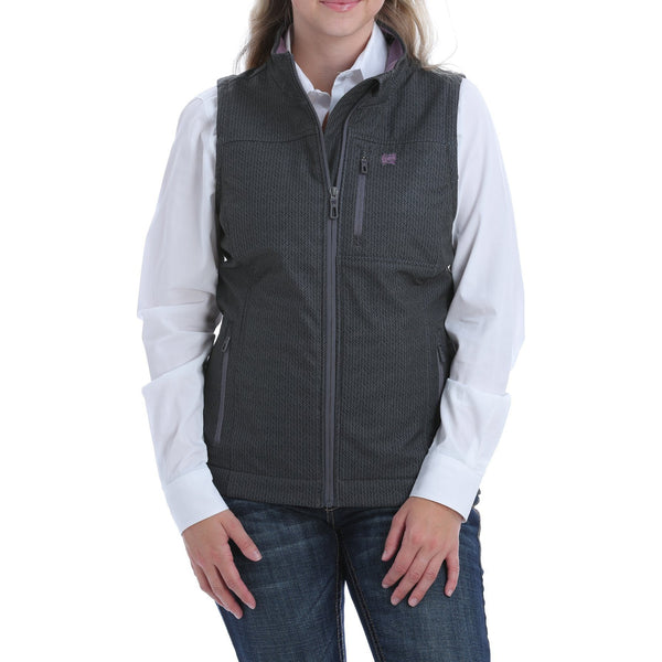 Cinch Women's Concealed Carry Bonded Vest-Black/Lilac