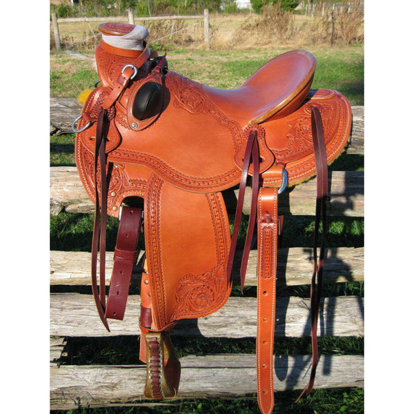 RW Bowman Mike Branch Natural Wade Saddle - West 20 Saddle Co.