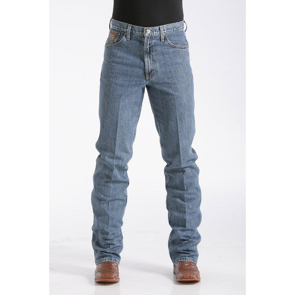 Cinch Men's Slim Fit Bronze Label Jean - Medium Stonewash - West 20 Saddle Co.