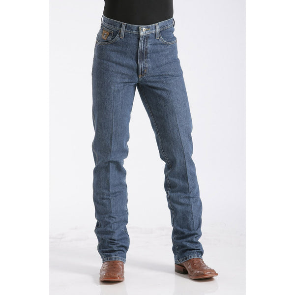 Cinch Men's Slim Fit Bronze Label Jean - Dark Stonewash - West 20 Saddle Co.