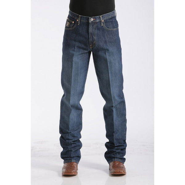 Cinch Men's Loose Fit Black Label Jeans - Dark Stonewash - West 20 Saddle Co.