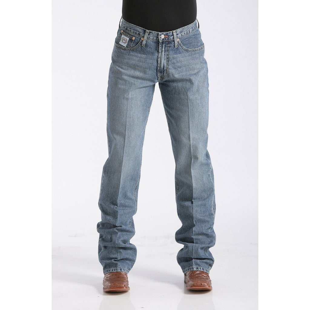 Cinch Men's Relaxed Fit White Label Jean - Medium Stonewash - West 20 Saddle Co.