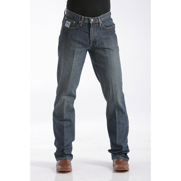 Cinch Men's Relaxed Fit White Label Jean - Dark Stonewash - West 20 Saddle Co.