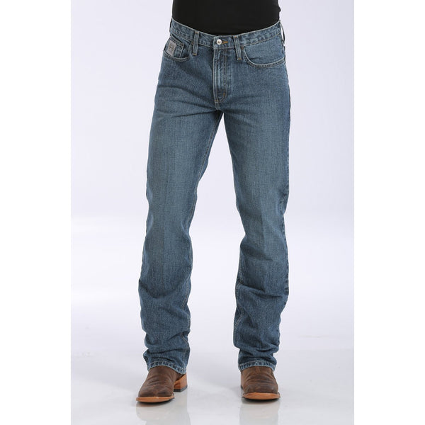 Cinch Men's Slim Fit Silver Label Jean - Medium Stonewash - West 20 Saddle Co.