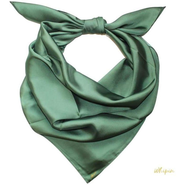 Solid Moss Green Wild Rag