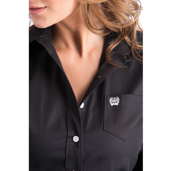 Cinch Ladies Black Arena Fit Button Up Shirt - West 20 Saddle Co.