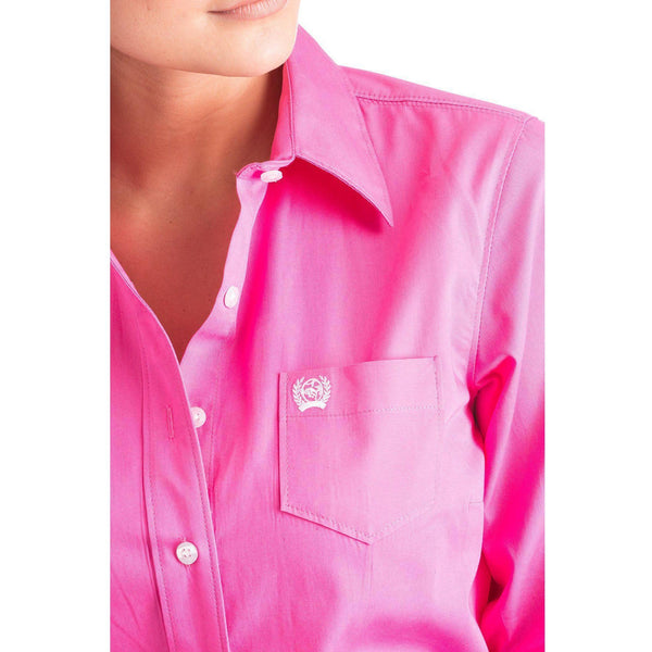 Cinch Pink Arena Fit Button Up Shirt - West 20 Saddle Co.