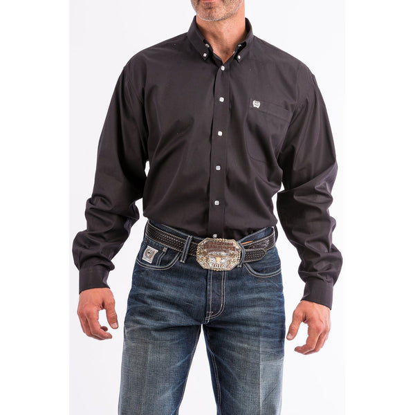 Cinch Men's Solid Black Button-Down Western Shirt - West 20 Saddle Co.