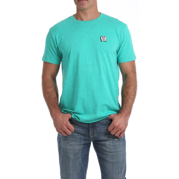 Cinch Mens Graphic Tee-Heather Teal