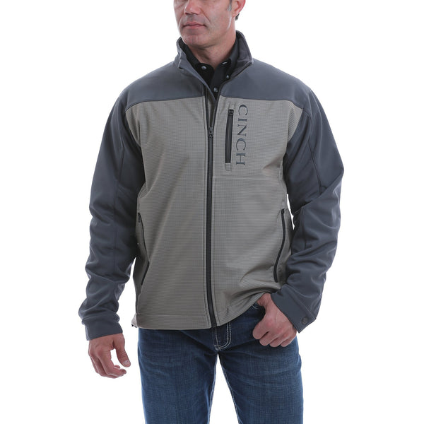 Cinch Men's Color Blocked Bonded Jacket-Stone/Blue